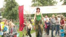 Thousands turned out for the Strawberry Fair yesterday.
