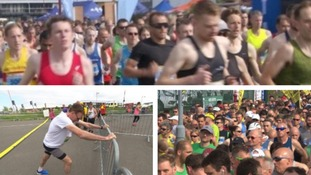 Thousands take to Derby's streets for half marathon