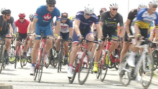 Cyclists from all over the world travelled to take part in the race.