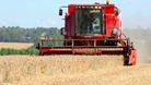 A combine at work in an Essex field
