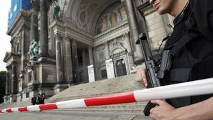 Berlin police shoot man waving knife inside cathedral