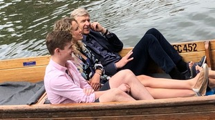 Former Arsenal boss Arsene Wenger spotted punting in Cambridge