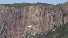Two climbers fall at Fair Head cliff