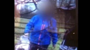 The woman was caught on camera by a farmer who says he's had a problem with flytippers.