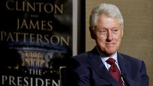 Bill Clinton during an interview about a novel he wrote with James Patterson.