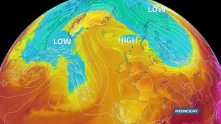 High pressure to the north of the UK for this week. No significant rain or wind in the forecast