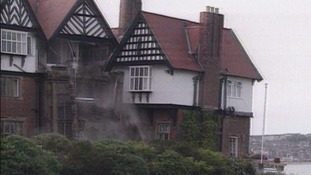 Scarborough's Holbeck Hall hotel collapsed into the sea after a landslip.