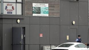 Garda were seen outside Bray Boxing Club.
