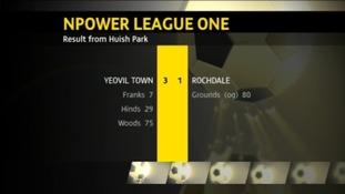 Yeovil 3 - 1 Rochdale