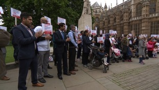 Hundreds of people protested in Westminster today against the Government's Immigration policy.