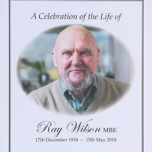 The order of service for the funeral of 1966 World Cup winner Ray Wilson