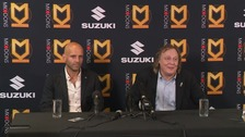 Paul Tisdale with MK Dons chairman Pete Winkelman