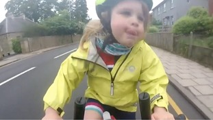 Four-year-old cyclist goes viral after thanking considerate lorry driver