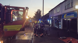 Crews were sent to a serious flat fire on Mill Road