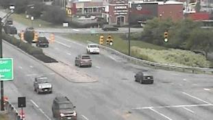 SUV driver's bizarre backwards journey through Ohio traffic