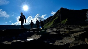 The Giant's Causeway welcomed one million visitors.