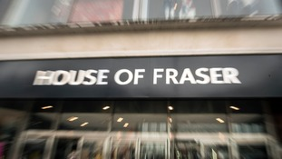 Several House of Fraser stores have been earmarked for closure.