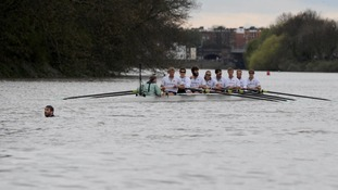 Oxford University crew and swimmer