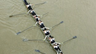 Oxford crew in Boat Race