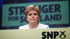 First Minister Nicola Sturgeon at the Scottish National Party's spring conference