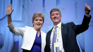First Minister Nicola Sturgeon with the party's new deputy leader Keith Brown MSP
