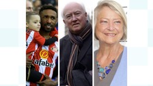 Jermain Defoe (pictured with Bradley Lowery, Peter Lawrence and Kate Adie, OBE.