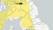 Met Office Warning in place until 9pm Saturday 9th June