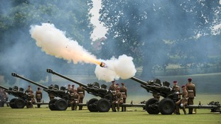 21-gun salute in Colchester for Queen's official birthday