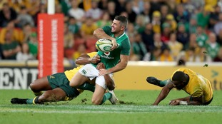 Rob Kearney in action for Ireland in Brisbane