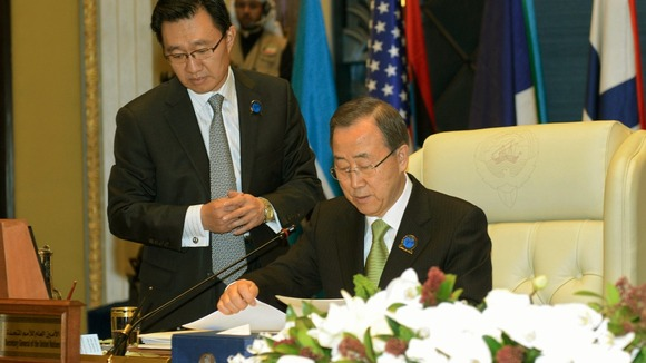 UN Secretary-General Ban Ki-moon, at a conference of donors in Kuwait