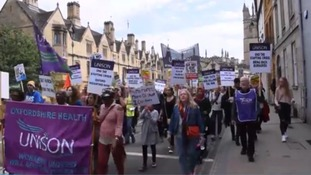 March through Oxford in support of  NHS