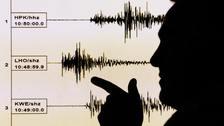 The earthquake measured 3.9.