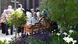 Grenfell Tower memorial garden unveiled in shadow of ruined block