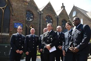 Members of the fire brigade from Ladbroke Road station, who attended to the fire.