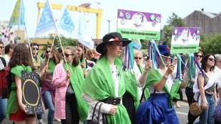 Thousands celebrate 100 years since women won vote