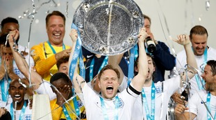 Essex popstar Olly Murs captains England to glory at Soccer Aid