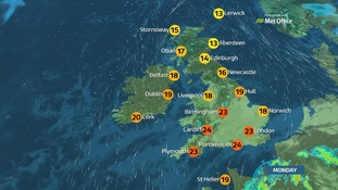 There will be some warm sunny spells across England and Wales