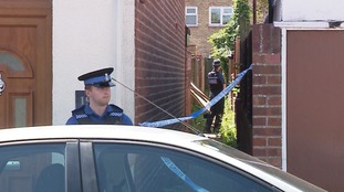 Police on the scene at Pauline Street in Ipswich