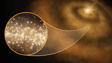 Streams of faint microwaves emanating from star systems could be caused by tiny diamonds.