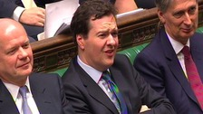 Foreign Secretary Willaim Hague, Chancellor George Osborne, and Secretary of State for Defence Philip Hammond