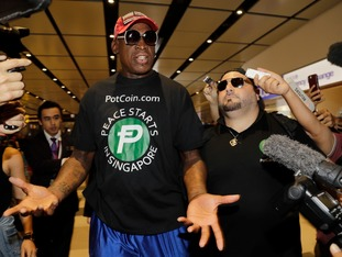 Dennis Rodman flew out to Singapore for the historic summit though he does not have an official role.