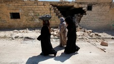 A group of women in Syria (not connected to the women mentioned in the ITV report)