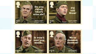 The eight stamps celebrate the sitcom's much-loved key characters.