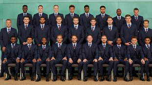 England official team photo for the 2018 World Cup
