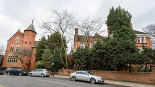 Home of Jimmy Page (L) and Robbie Williams (R)