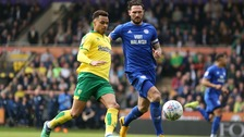 Josh Murphy in action for Norwich against his new club Cardiff City last season.