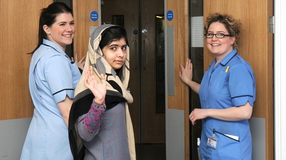Malala was allowed to leave Queen Elizabeth Hospital to live with her family in Birmingham earlier this month