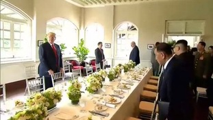 A large working lunch for the world leaders.
