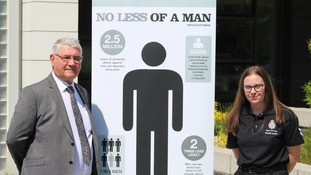 The campaign was launched in Durham to urge men to come forward