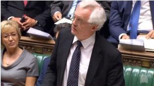 Brexit Secretary David Davis speaking in the Commons.